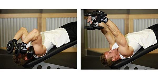Bài tập Decline Dumbbell Triceps Extension