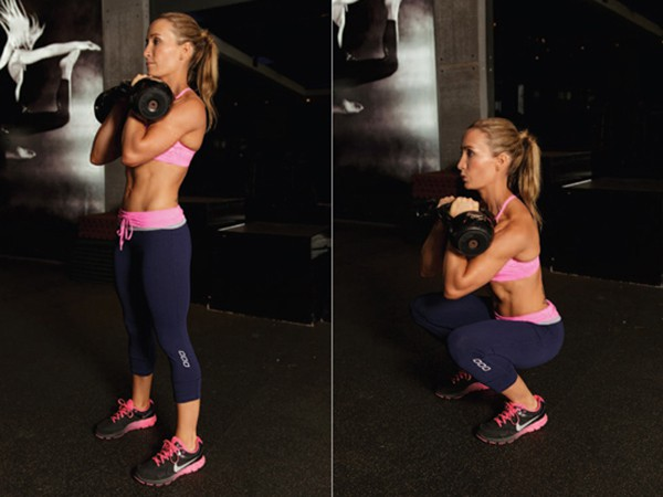 Bài tập Front Squat With Two Kettlebell