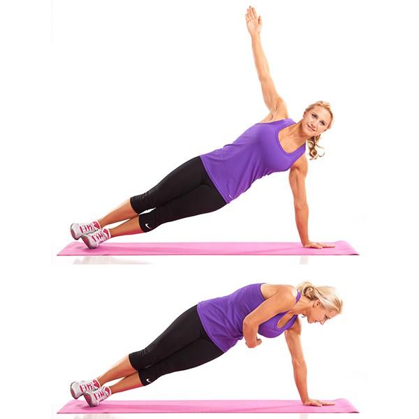 Bài tập Side Plank Rotation