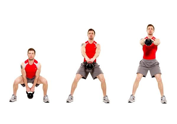 Bài tập Two Arm Kettlebell Swing