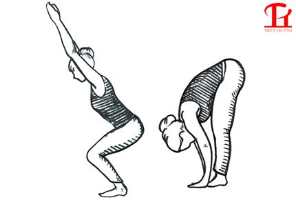 Bài tập Yoga tư thế gập người về phía trước