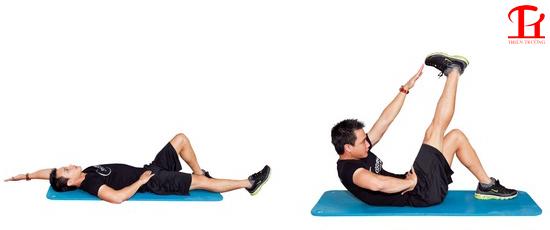 Bài tập cơ bụng 6 múi đơn giản tại nhà thứ ba