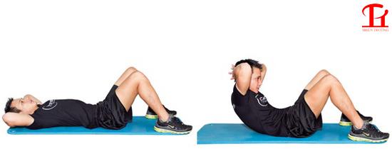 Bài tập cơ bụng 6 múi đơn giản tại nhà thứ nhất