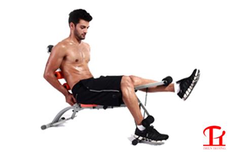 Bài tập cơ chân với máy tập cơ bụng