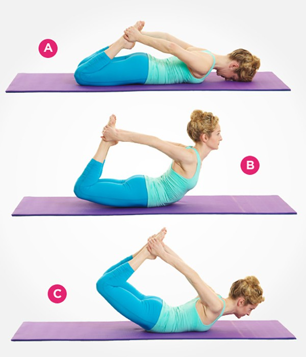 Bài tập cuộn người Pilates