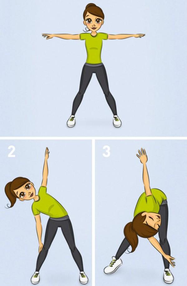 Bài tập giãn cơ lưng buổi sáng