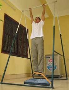 Bài tập xà đơn kèm theo kéo vật nặng