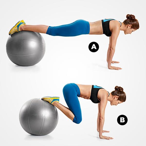 Tập lăn bóng giảm mỡ bụng dưới cho nữ