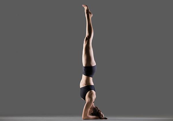 Tư thế Yoga trồng chuối trên đầu