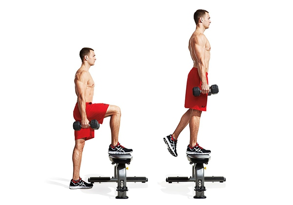 Bài tập Dumbbell Step Up