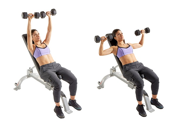 Bài tập Incline Dumbbell Press