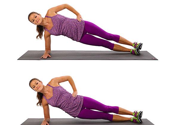 Bài tập Side Plank Dips
