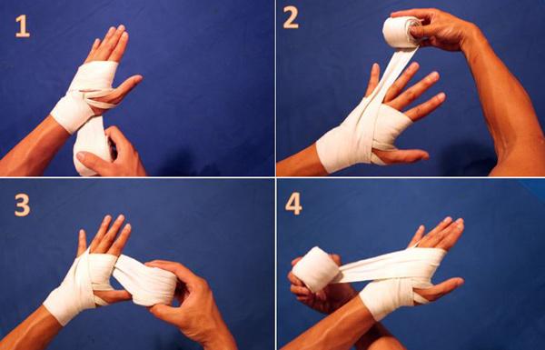 cách dùng băng quấn tay