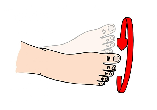 Di chuyển ngón chân chữa chuột rút