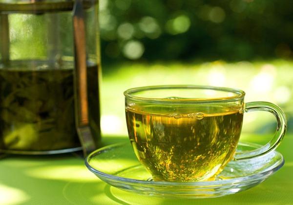Nước detox trà xanh giảm mỡ bụng