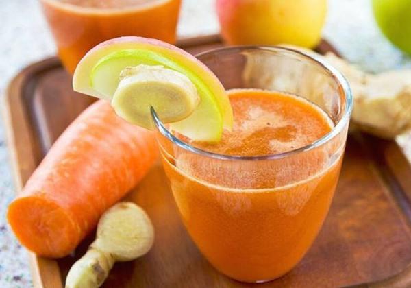 Nước ép cà rốt, táo và gừng