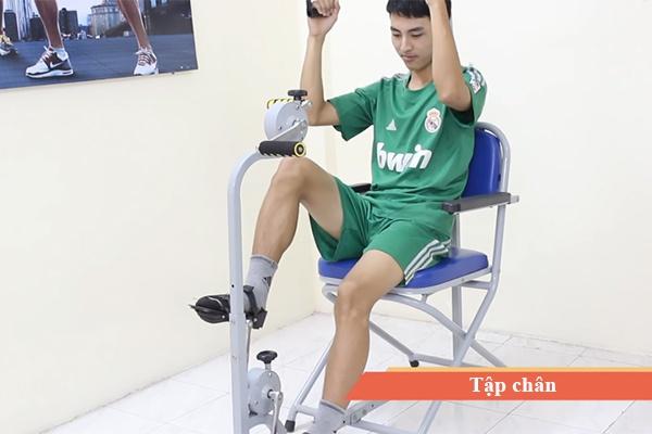Tập đạp xe dụng cụ tập phục hồi chức năng 3 in 1