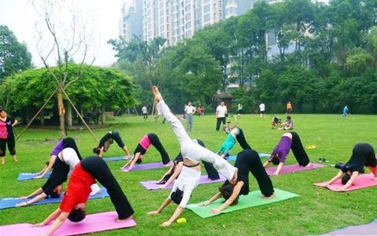 Thảm tập Yoga luyện tập ngoài trời