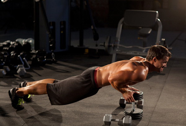 Bài tập Close-Grip Push-Up off of a Dumbbell