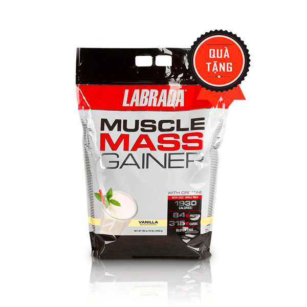 Sữa Muscle Mass Gainer của Labrada vị socola bịch 5,4kg