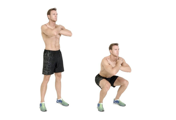 Tập cardio squat cơ bản