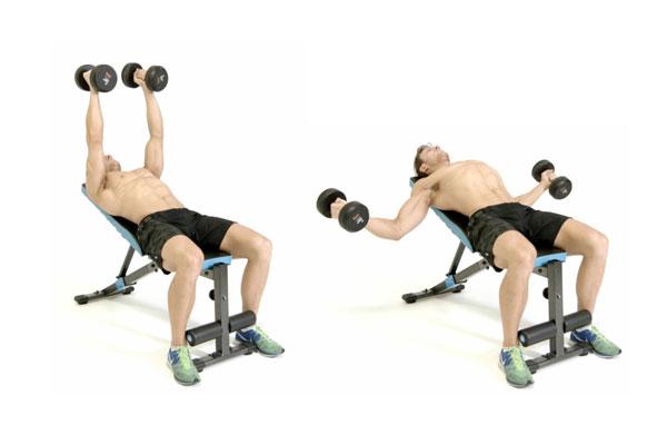 Bài tập Gym giảm cân Incline Dumbbell Flyes