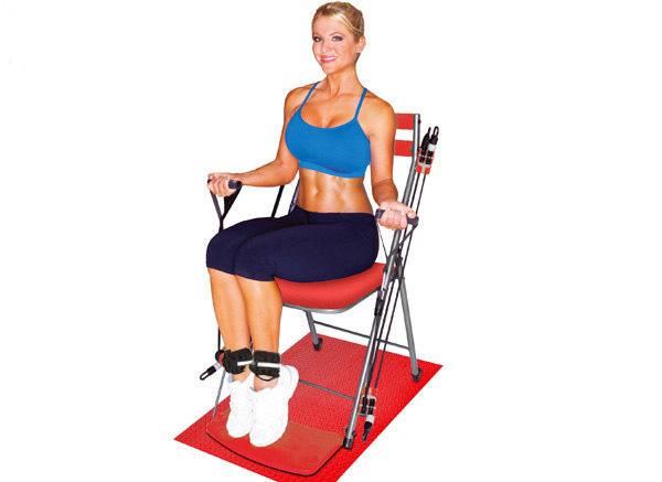 Bài tập ngồi trên ghế với tạ chân