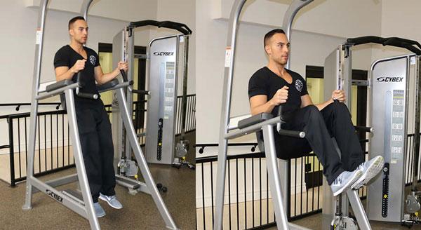 Bài tập Roman Chair Leg Raise hỗ trợ tăng chiều cao