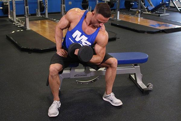 Tập Concentration Curl giúp cơ bắp tay trước nở nang săn chắc
