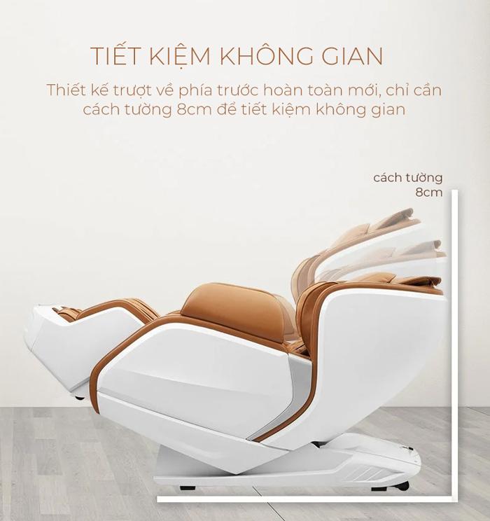 Chức năng lùi tường trên ghế massage Oreni OR-200