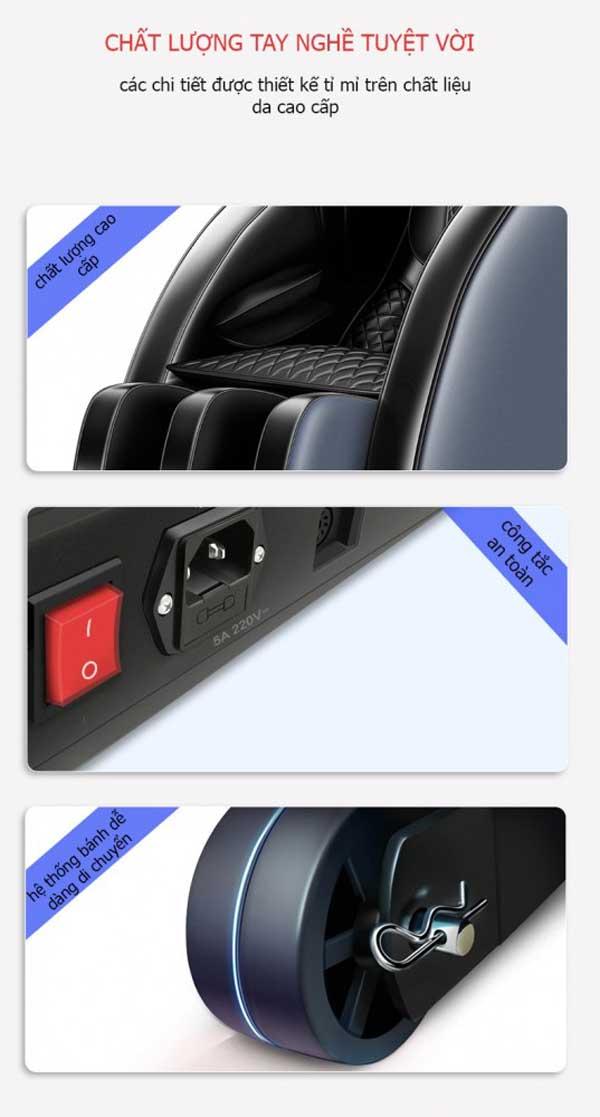 Chi tiết trên ghế massage toàn thân Okinawa JS 25