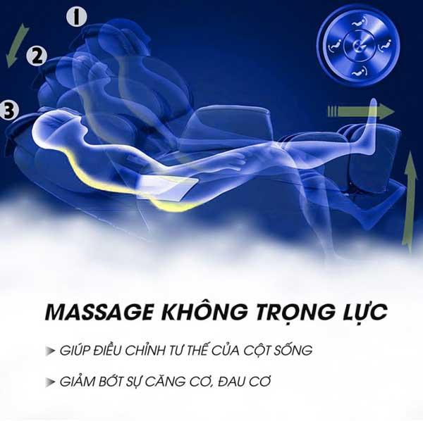 Chức năng không trọng lực trên ghế massage Okazaki OS 600
