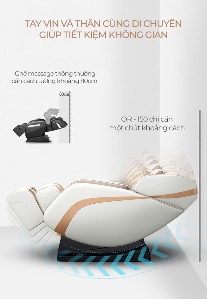 Chức năng lùi tường trên ghế massage Oreni OR-150