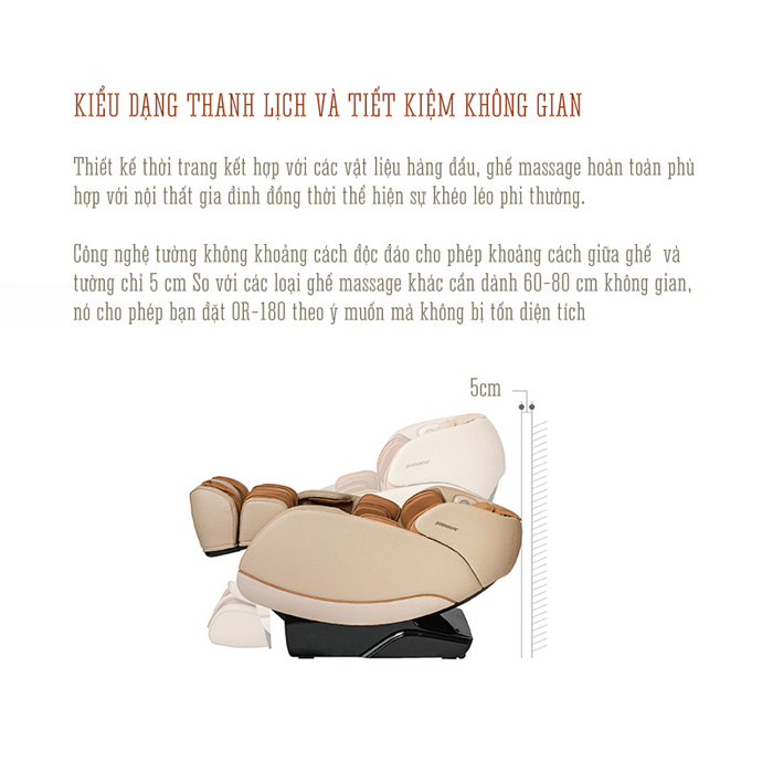 Chức năng lùi tường trên ghế massage Oreni OR-180