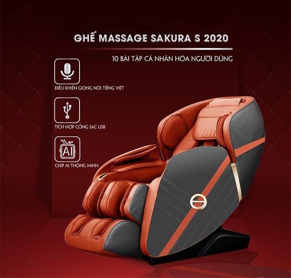 Ghế massage Sakura S 2020