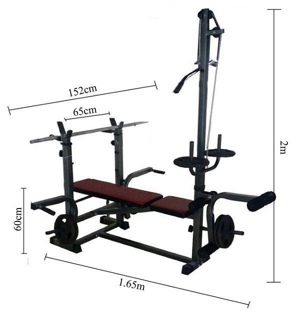 Kích thước ghế tập tạ như nào là hợp lý?