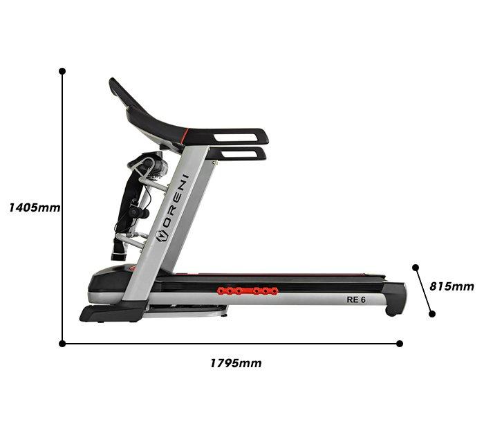 Kích thước lắp đặt máy chạy bộ Oreni RE-6