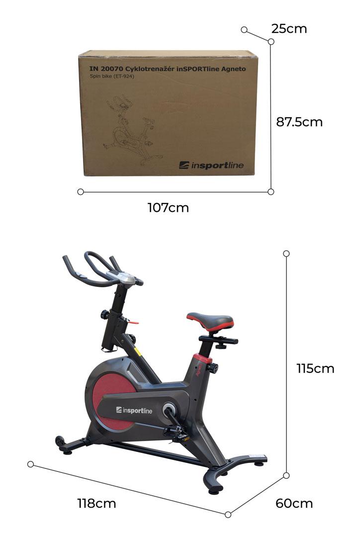 Kích thước xe đạp tập Spin Bike TK2070