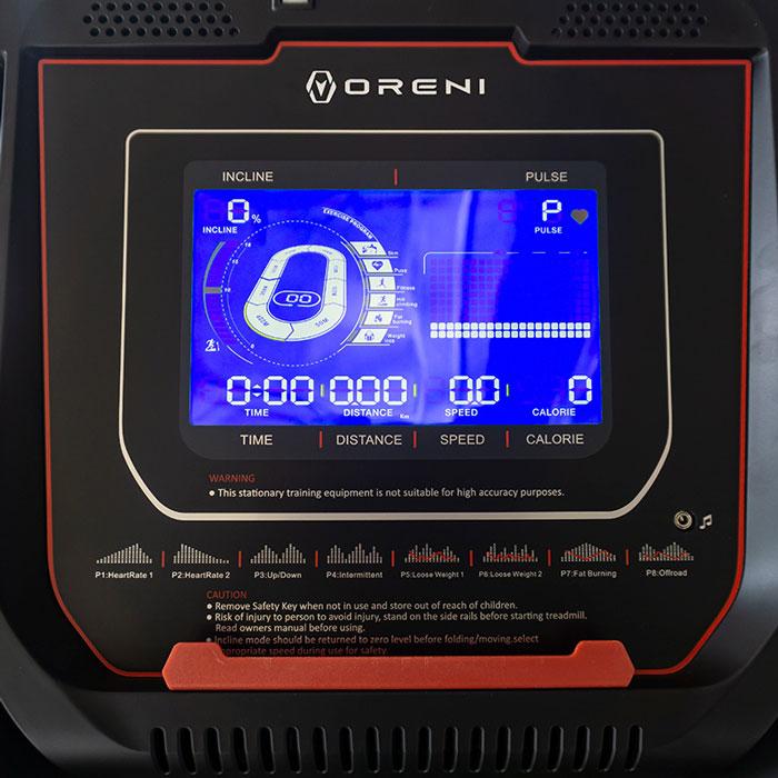 Màn hình hiển thị của máy chạy bộ điện Oreni RE-6