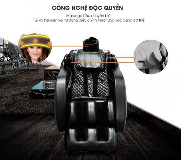 Chức năng massage đầu trên ghế massage Saporoo SP-909FX