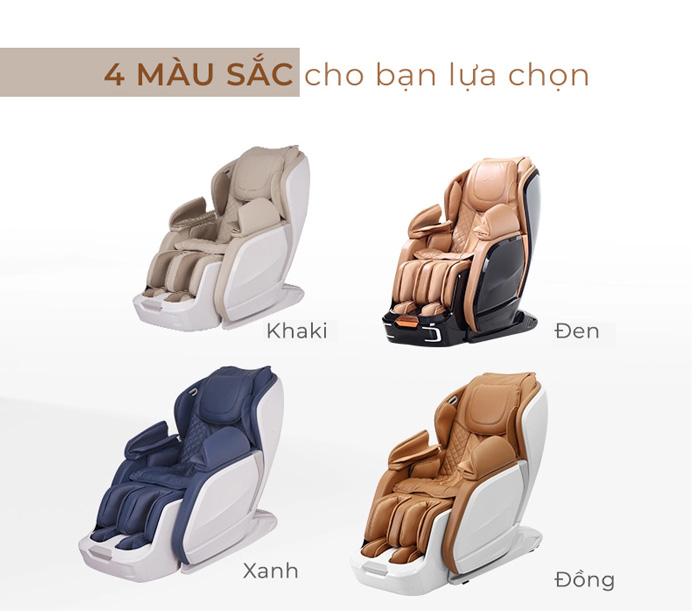 Tùy chọn màu sắc trên ghế massage Oreni OR-200
