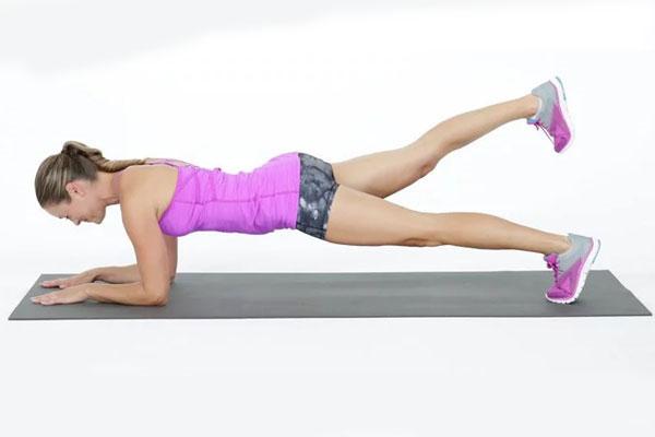 Elbow plank leg raises - Plank nâng chân