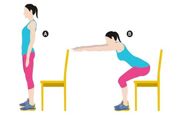 Bài tập Squat với ghế ngồi