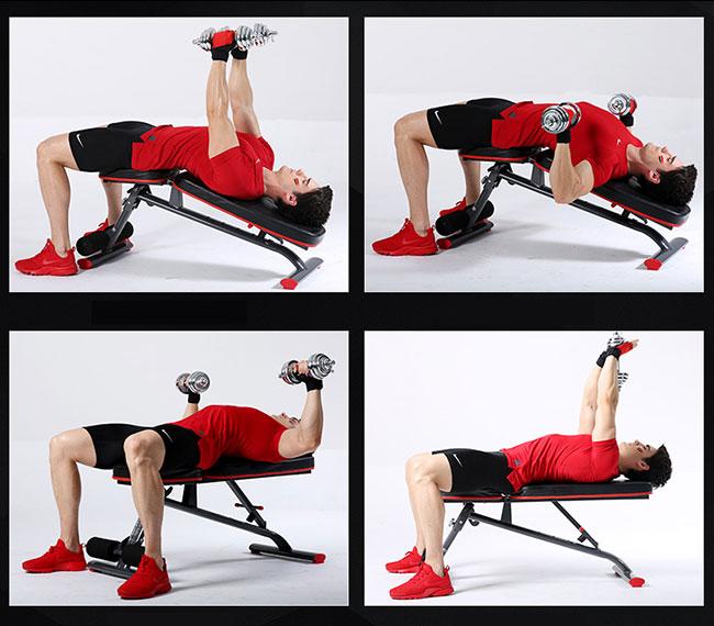 Tập ngực ghế tập Gym DDS-1201