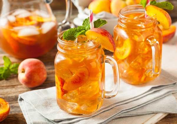 Cách làm trà đào cam sả giảm cân