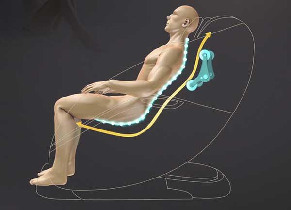 Trục massage S-L trên ghế massage Okazaki OS 600
