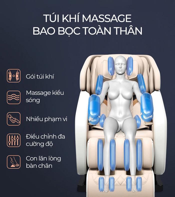 Túi khí trên ghế massage Oreni OR-150