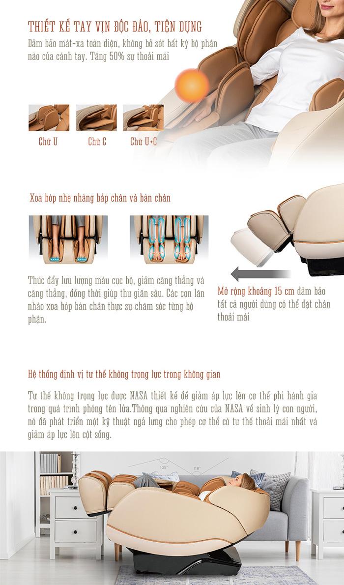 Chức năng không trọng lực trên ghế massage Oreni OR-180