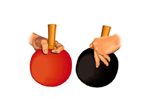 Cách cầm vợt dọc trong bóng bàn