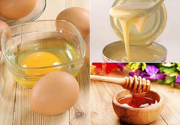 Trứng gà, mật ong, sữa đặc